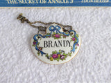 Brandy Decanter Tag Crown Staffordshire 1970s Liquor Label Bone China UK