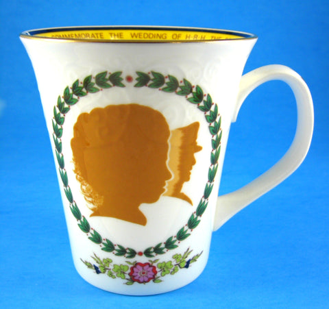 Royal Wedding Mug Princess Anne Mark Phillips Bone China 1973 Royal Commemorative