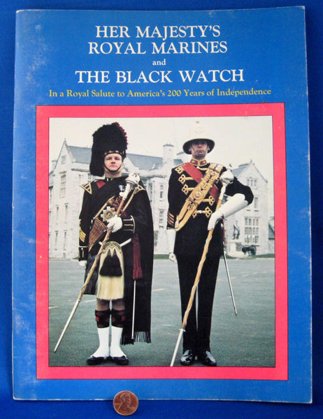Program Black Watch Royal Marines Band 1976 Bicentennial Tour