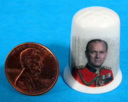 Prince Philip Silver Jubilee Thimble 1977 English Bone China Duke Of Edinburgh