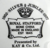 Boxed Dish Queen Elizabeth II Silver Jubilee 1977 England Royal Stafford Bone China
