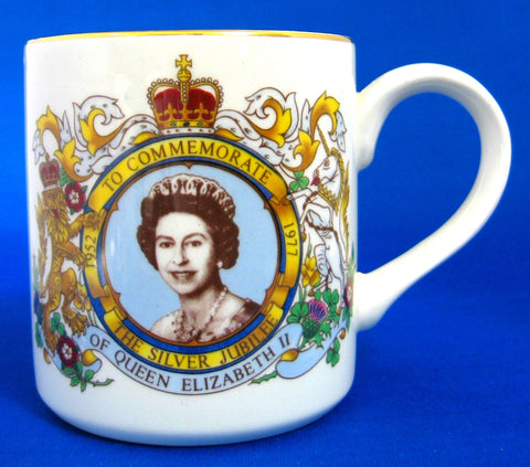 Mug Silver Jubilee Queen Elizabeth II Midwinter 1977 Ceramic Royal Souvenir