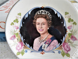 Pin Dish Queen Elizabeth II Silver Jubilee 1977 England Bone China Royal Sovenir