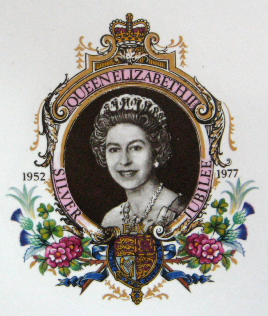 Queen Elizabeth Ii Silver Jubilee Tile Napkin Holder 1977