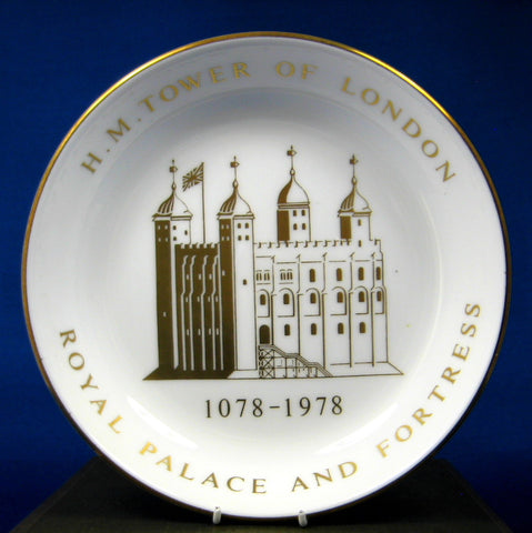 Tower Of London Boxed Dish 900th Anniversary 1978 England Royal Worcester Bone China