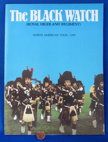 Program Black Watch Royal Highland Band From Scotland 1979 North America