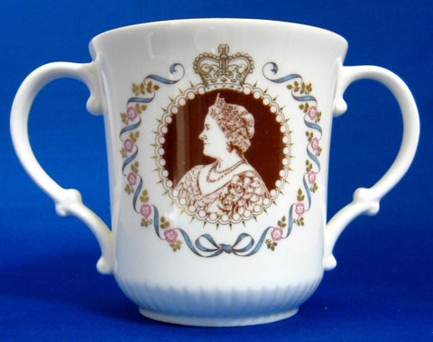 Royal Doulton Loving Cup Queen Mum Elizabeth 1980 80th Bd Royal Commemorative