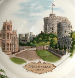 Wedgwood Windsor Castle Plate 1980 First Queensware Christmas Plate Royal Palace