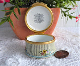 Halcyon Special Thank You Enamel Trinket Box English Porcelain 1980s Ring Box Gift