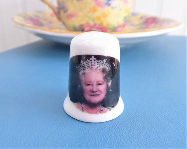 Thimble Queen Mum Queen Elizabeth Wife of King George VI Mother Queen Elizabeth