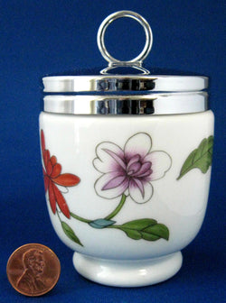 Egg Coddler Royal Worcester Astley King Double Floral 1980s