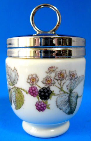 Egg Coddler Royal Worcester Lavinia King Double Large Berries Vines 2 Eggs