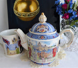 Sadler England Teapot 1980s London Thameside Tower Of London Tower Bridge Beefeater
