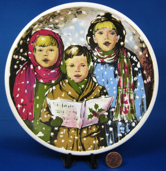 Carolers Christmas Plate English Ironstone In The Snow 1980s