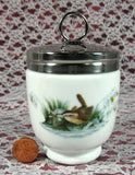Egg Coddler Royal Worcester Birds King Double Large Wrens Finches 1980s