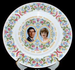 Princess Diana and Charles Royal Wedding Plate Coalport 1981 Charger