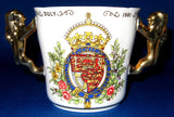 Charles And Diana Wedding Loving Cup Lion Handles Paragon In Box 1981 Gorgeous
