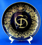 Plate Royal Wedding Charles And Diana Blue Gold Wreath 1981 Royal Blue And Gold