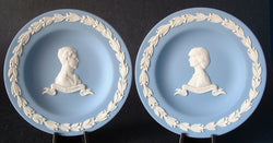 Royal Wedding Charles And Diana Wedgwood Jasperware Dish Pair 1981