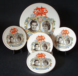 Princess Diana And Charles Royal Wedding Tile And Coasters 1981 Boxed Set