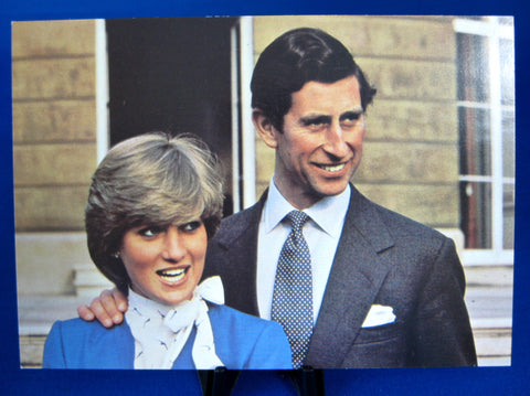 Charles Diana Royal Wedding Postcard Fab Photo 1981 Lady Diana Engagement