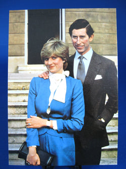 Postcard Charles And Diana Royal Wedding Standing Fab Photo 1981 Lady Diana