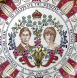Charles And Diana Royal Wedding Transferware Plate Large Masons In Box 1981