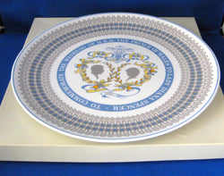 Pretty Charles And Diana Wedding Plate Royal Tuscan 1981 Charger Boxed