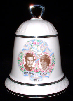 Bell 1981 Royal Wedding Prince Charles Princess Diana Sylvac Hostess Dinner Bell