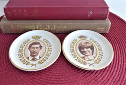 Royal Wedding Charles And Diana 1981 Overhouse Dish Pair Sepia Photos