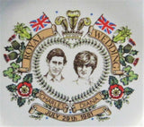 Royal Wedding Charles And Diana Pin Dish Tea Bag Holder 1981 Royal Souvenir