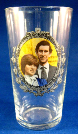 Commemorative Glass Royal Wedding Charles And Diana 1981 Drinking Glass Photo