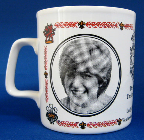 Mug Royal Wedding Charles and Diana England Lady Di 1981