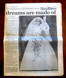 Charles And Diana Royal Wedding 1981 Newspaper Lot Star Express