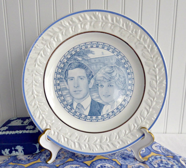 Adams Plate Prince Charles and Diana Royal Wedding 1981 Blue Transferware