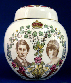 Charles and Diana Tea Caddy Royal Wedding England Masons Princess Diana 1981