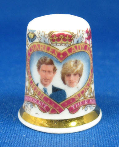 Royal Wedding 1981 Prince Charles And Princess Diana Thimble Bone China