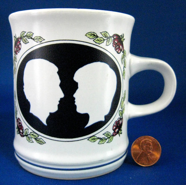 Charles And Diana Royal Wedding Mug 1981 Black Denby Silhouettes