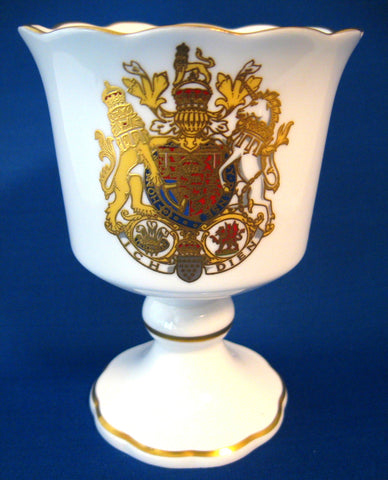 Charles And Diana Royal Wedding 1981 Worcester Fancy Goblet Bone China