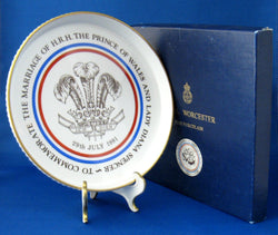 Charles And Diana Wedding 1981 Shortbread Dish Worcester In Box