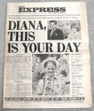 Charles And Diana Royal Wedding 1981 Daily Express Paper Royal Memorabilia