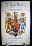 Prince Charles Lady Diana Royal Wedding Program Lady Di 1981 Minor Stains