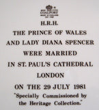 Coalport Plate Royal Wedding Charles And Diana St Pauls Cathedral 1981 Charger