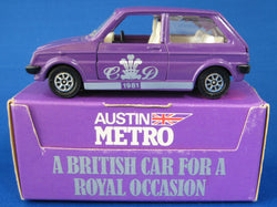 Royal Wedding Purple Corgi Austin Metro Model Charles And Diana 1981