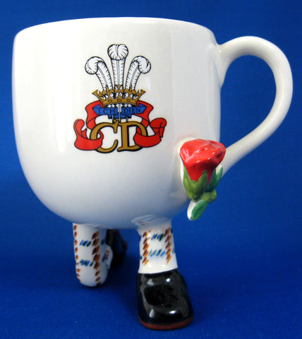 Walking Ware Royal Wedding Mug Diana Charles Carlton Ware 1981 Rare