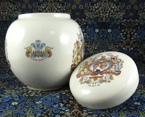 Charles And Diana Royal Wedding Tea Caddy Sadler England 1981