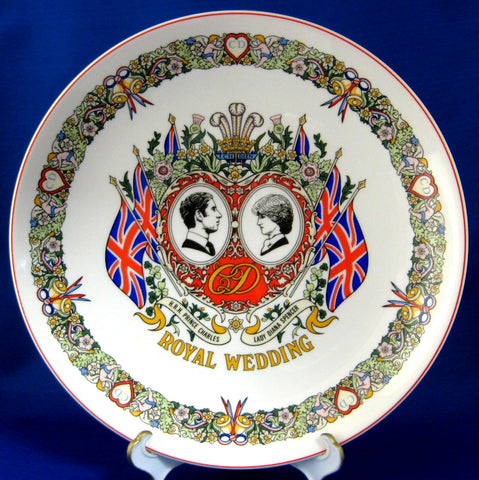 Wedgwood Plate Royal Wedding Charles Diana Ironstone 1981 Colorful 10 Inches