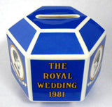 Charles And Diana 1981 Royal Wedding Bank Wedgwood Money Box Royalty