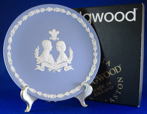 Wedding Plate Charles And Diana Wedgwood Jasper Mint In Box 1981