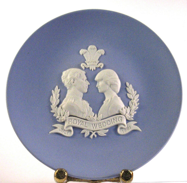 Wedding Plate Charles And Diana 4.5 Inch Wedgwood Jasperware 1981
